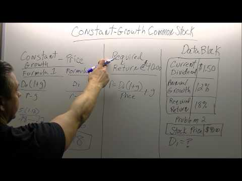 Constant growth formula for stocks