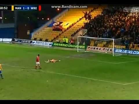 Alan Marriot mansfield Goalkeeper Goal v Wrexham 20412