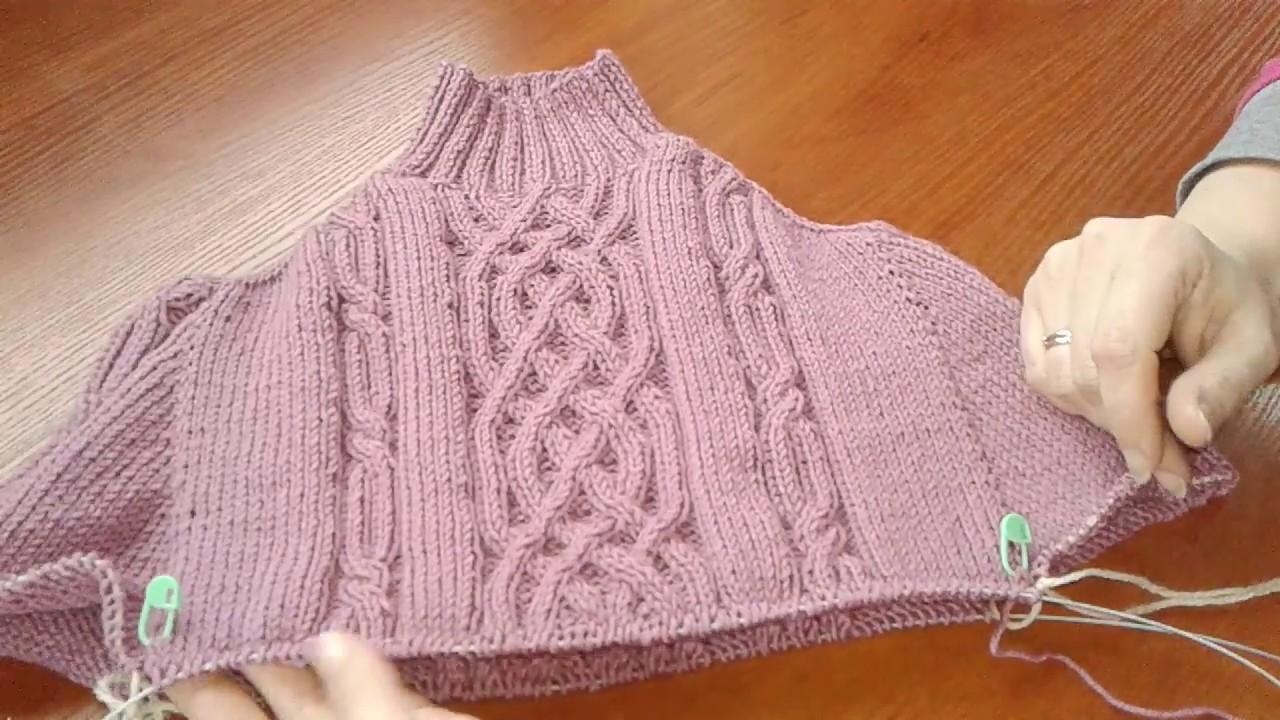 Ютуб вязание на спицах свитера