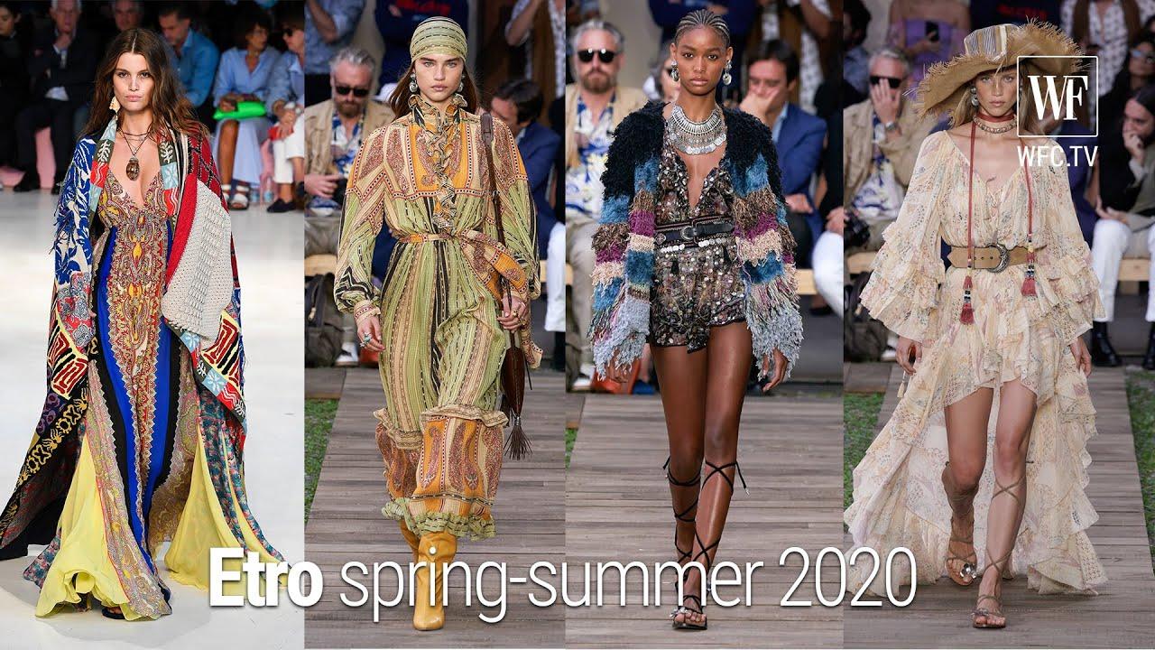 Etro Spring Summer 2020 Milan Fashion Week Youtube