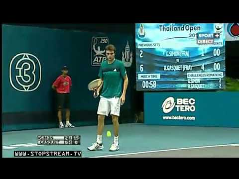 Atp Bangkok 2012 Final Gasquet Vs Simon Full Match