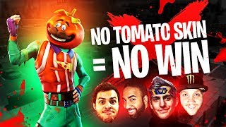 NO TOMATO SKIN = NO WIN!! (ft. Ninja, Marcel & Actionjaxon) | Fortnite Battle Royale Highlights #123