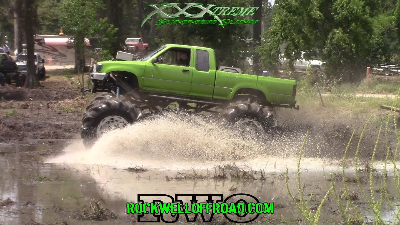 XTREME OFF ROAD PARK GETS BLASTED BY BIG MUD TRUCKS!!!