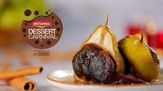 Mithai Baked Pears Recipe By Kamini Patel   How To Make Baked Pears   Britannia Dessert Carnival
