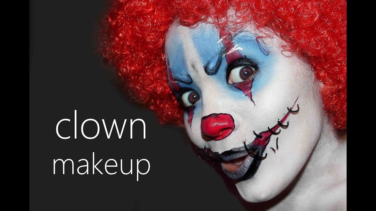 halloween clown make up tutorial youtube. Black Bedroom Furniture Sets. Home Design Ideas