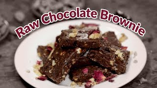 Healthy Raw Chocolate Brownie | Best Healthy Raw Brownies Recipe | CHOCOLATE BROWNIES RAW VEGAN