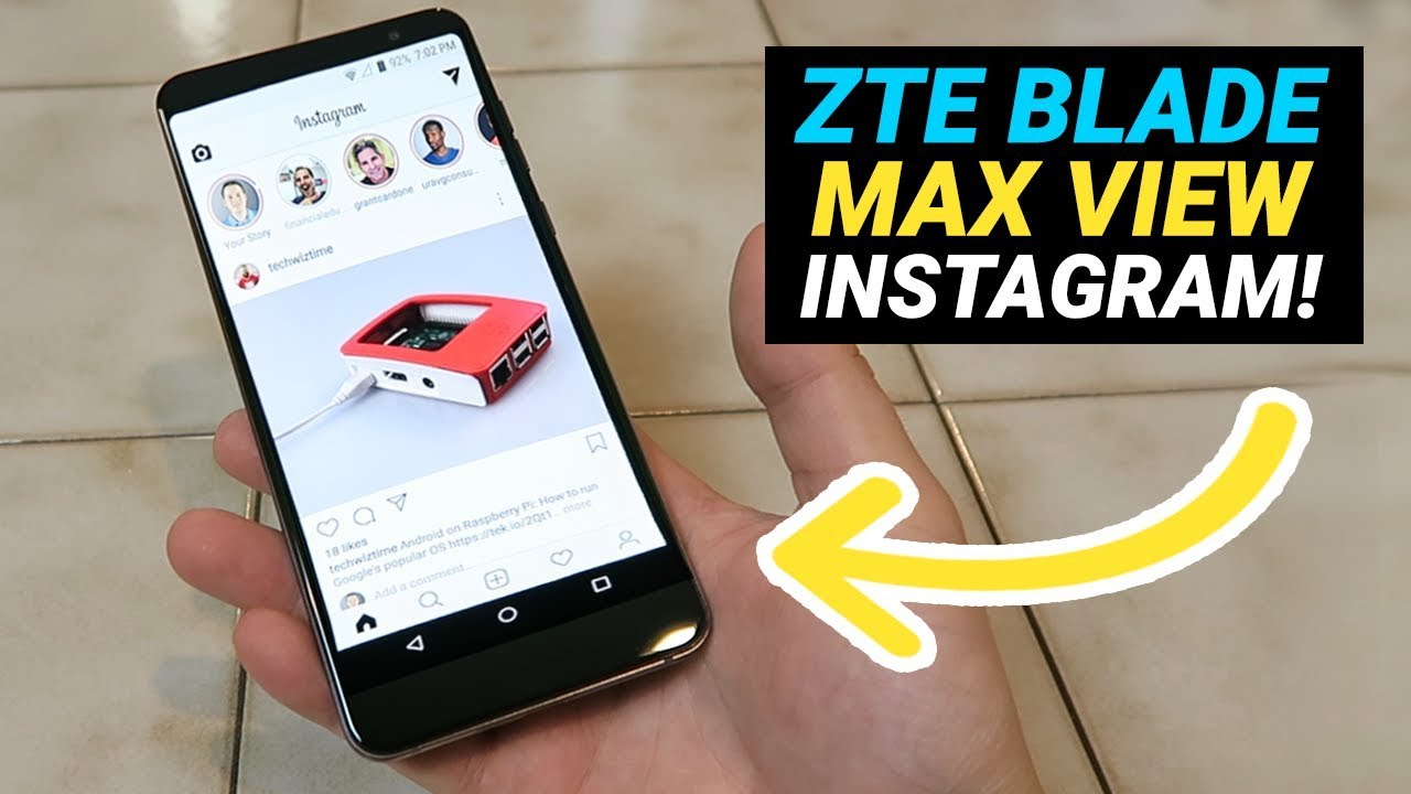 ZTE Blade Max View - Is it Good for Instagram?
