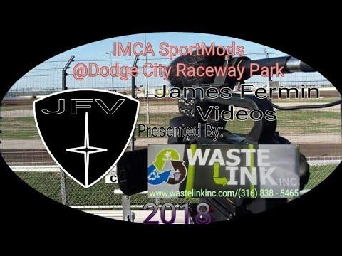 IMCA SportMods #5, Heat 1, Dodge City Raceway Park, 06/08/18