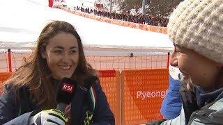 PyeongChang 2018, Sofia Goggia dedica la vittoria a Dominique Gisin