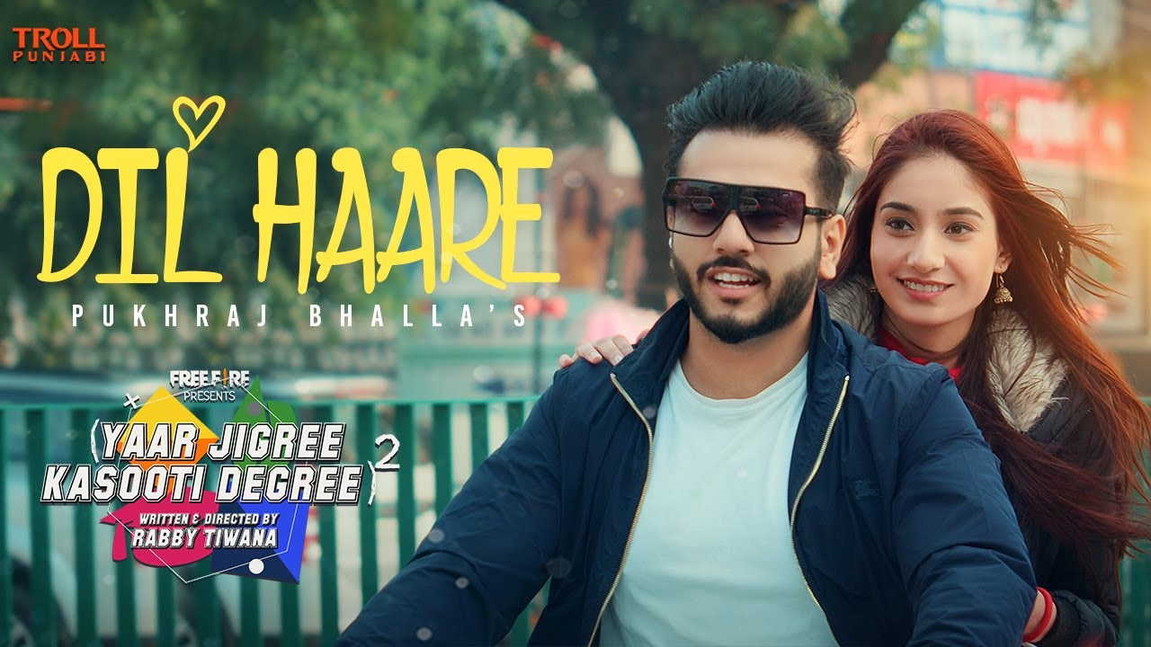 Dil Haare - Pukhraj Bhalla | JT Beats | Yaar Jigree Kasooti Degree - S2 | Latest Punjabi Song 2020