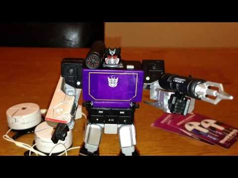 Soundwave Music Label with Frenzy and Rumble - Transformers Toy Review