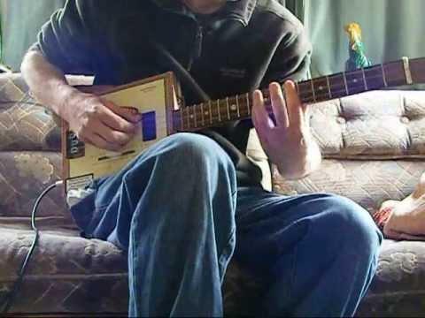 Aint No Sunshine Lesson on 3 string cigar box guitar
