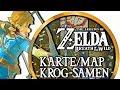 Zelda Breath of the Wild ► 900 Krog-Samen/Korok-Seeds: Krog-Samen-Karte/Korok-Seeds-Map