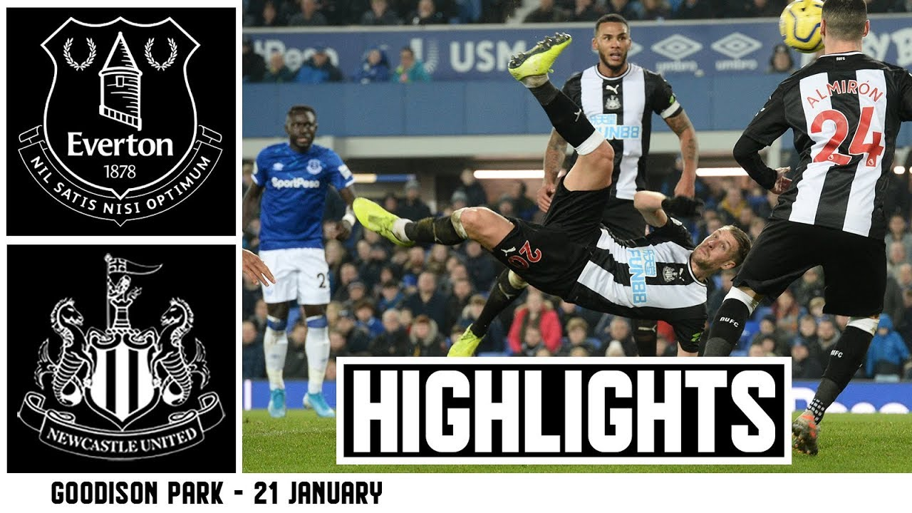 TWO STOPPAGE TIME GOALS ? Everton 2 Newcastle United 2: Brief Highlights