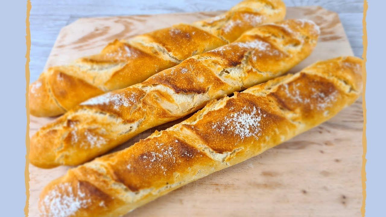 Pâine de casă / baghete - pufoase în interior și crocante pe exterior