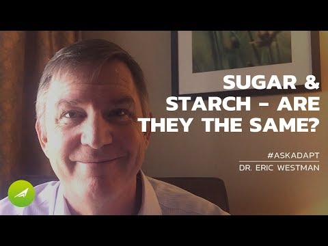 Are sugar and starch the same thing?