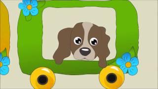 Голоса домашних животных веселый паровоз  Звуки домашних животных  мультик
