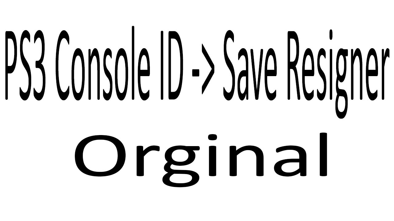 how to use ps3 save resigner