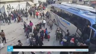 دفعة جديدة من مقاتلي المعارضة تنطلق من وادي بردى إلى إدلب