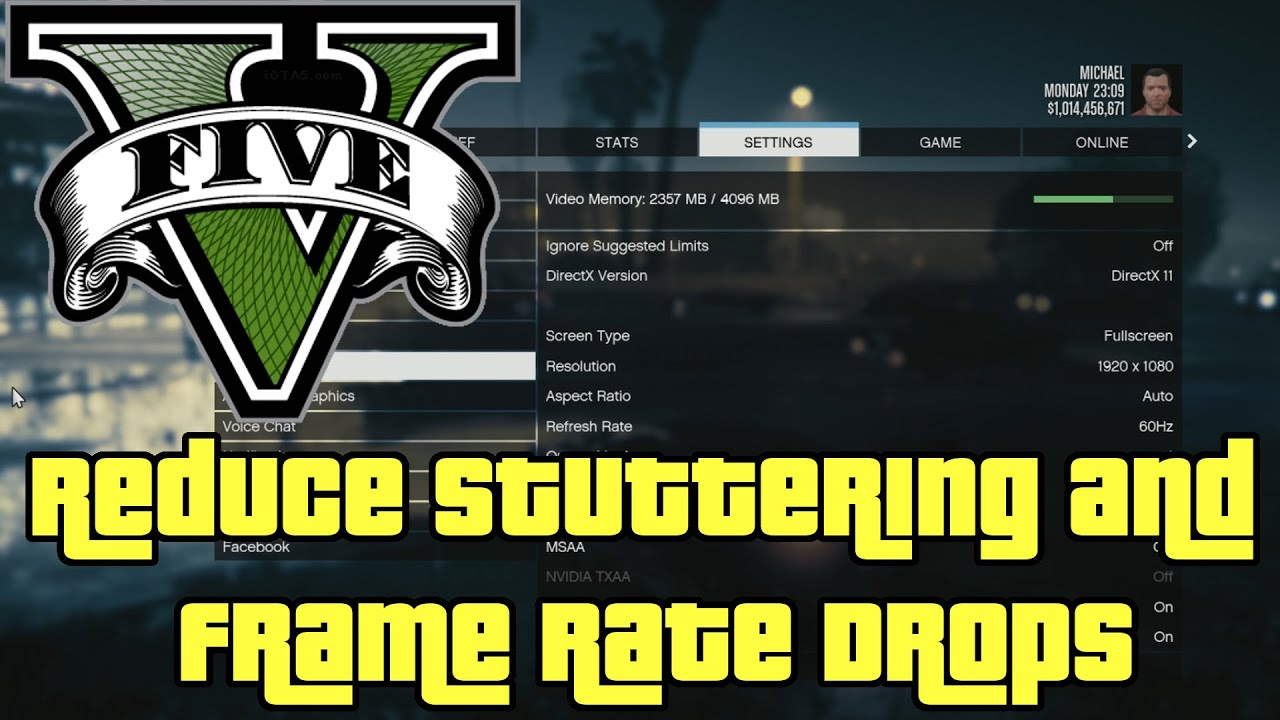 Gta  How To Fix Random Stuttering And Frame Rate Drops Gta V Pc Enhanced Edition Youtube
