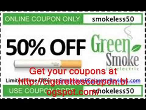Get Free Green Smoke E Cigarette Coupon Code October 2014