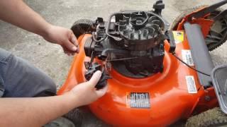 How to repair a lawn mower-reparación de podadora .