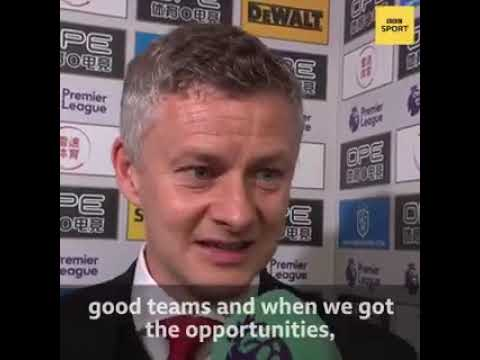 """The sad truth by  Ole Gunnar Solskjaer: """"The table doesn't lie"""""""