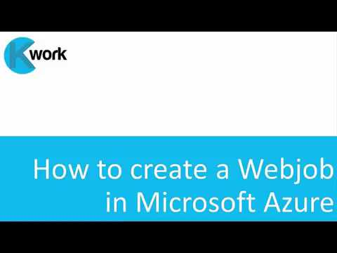 How to publish a WebJob in Microsoft Azure