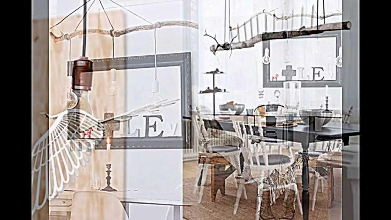 holz lampen selber machen deko mit zweigen im naturlook. Black Bedroom Furniture Sets. Home Design Ideas