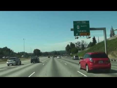 Interstate 5 In Washington,Seattle, Exit 156 To Exit 158,WA 98168