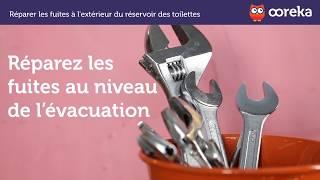 Réparer des fuites à l'extérieur des toilettes (Ooreka.fr)