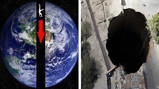 ЧТО БУДЕТ, ЕСЛИ ПРОБУРИТЬ ЗЕМЛЮ НАСКВОЗЬ и ПРЫГНУТЬ ТУДА?!