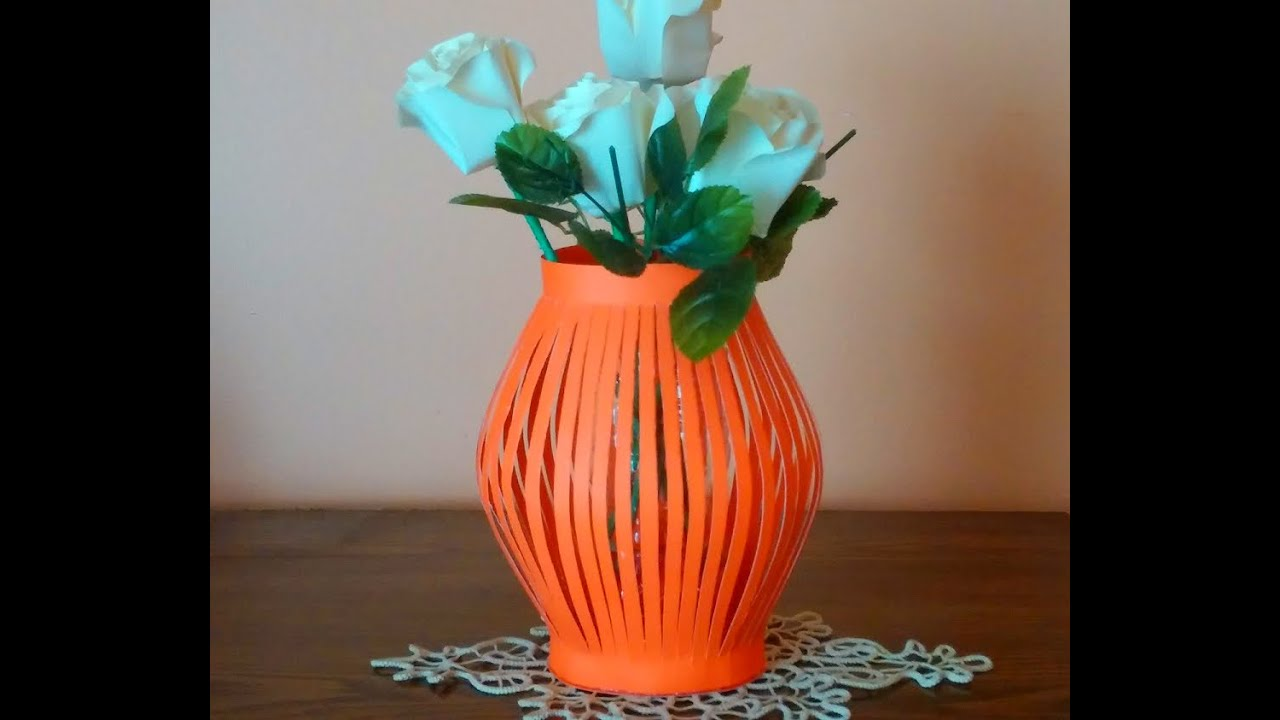 Diy Paper Vase How To Make A Paper Vase Easily Youtube