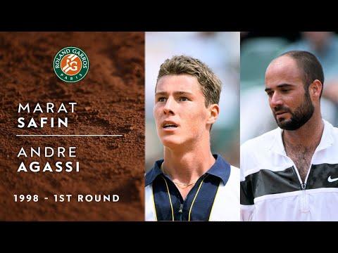 Marat Safin vs Andre Agassi - 1st round   Roland-Garros 1998