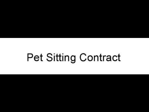 pet sitting contract youtube