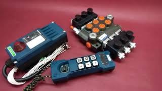 Radio Remote Controller HM Line 600 24V + Hydraulic valve 3 section 80 l/min (21GPM) 24V video