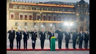 Izamiento Bandera Nacional en Memoria Personas que perdieron la vida en Sismo de 1985