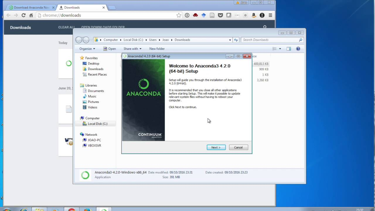 download anaconda python for windows