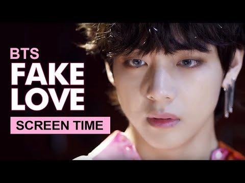 "BTS "" FAKE LOVE ""  Screen Time Distribution 各成員MV畫面時間統計 방탄소년단 防彈少年團"