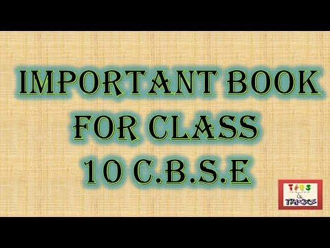 Important Book For Class 10 C.B.S.E  2017-18