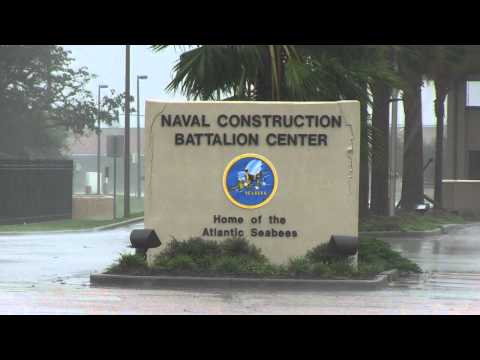 [HD] Hurricane Isaac Hits Naval Construction Battalion Center Gulfport, Miss 29/8/12