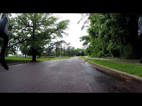 Wet Spring Bicycle Ride Forest Park St. Louis City Bike Blogger
