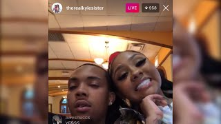 Ari says girls will die if they mess with G Herbo Instagram Live