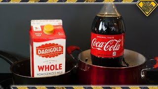 Watch What Happens When You Boil Milk and Coke