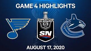 NHL Highlights   1st Round, Game 4: Blues vs. Canucks – Aug. 17, 2020