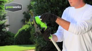 GreenWorks 21342 & 2100302 G-24 Cordless String Trimmer Review