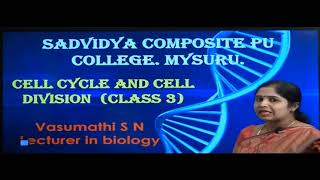 I PUC | Biology | Cell cycle and cell division-03