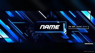 Free Gfx: Free Photoshop Twitter Header Template: Epic Abstract Style Banner-header Design  2019