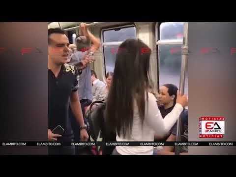 Super Martinez - Le Lleva Serenata a su Novia Infiel Hasta el Metro de Medellín