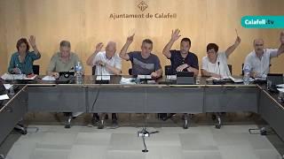 Ajuntament de Calafell: sessió plenària ordinària, 3 de setembre de 2018